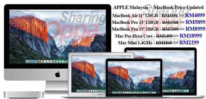 Photo of 马币大跌!MacBook在马来西亚起价RM708到RM3600!!最便宜的MacBook Air 也要RM4099!!