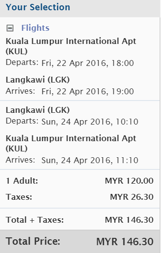 malaysia airlines kul to lgk