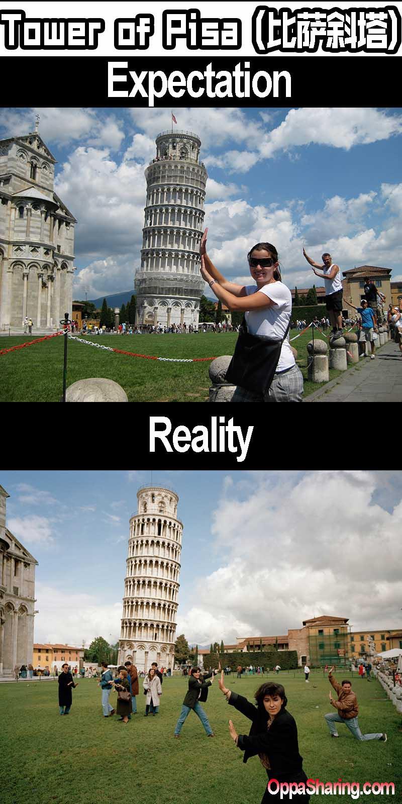 pisa tower e vs r
