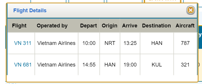 return flight hanoi