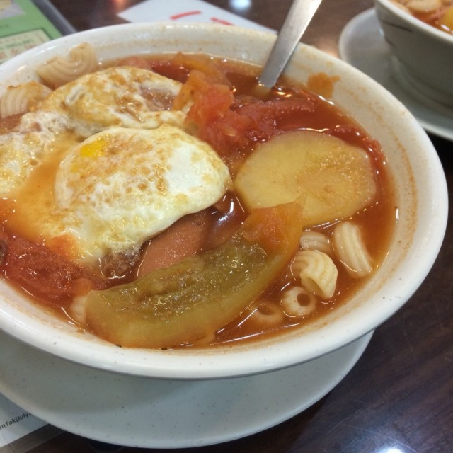 蕃茄薯仔湯通粉 香港 兰芳园 2