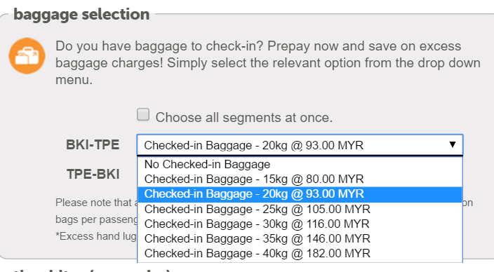 baggage from bki