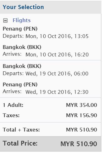 penang depart