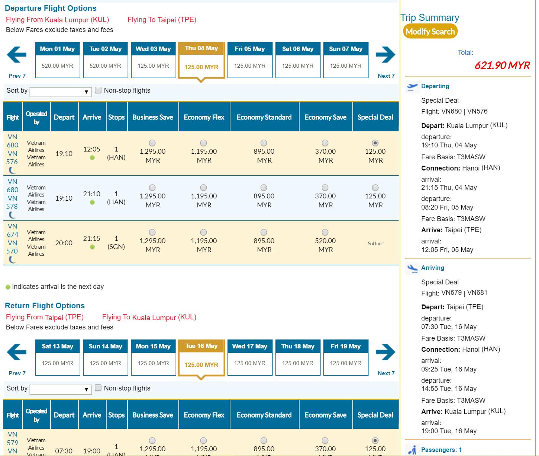 622 vietnam airlines