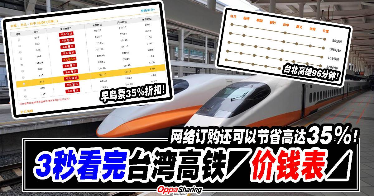 Photo of 3秒看完台湾高铁路线和◤价钱表◢!网络订购还可以节省高达35%呢!去台湾的朋友要注意啦!