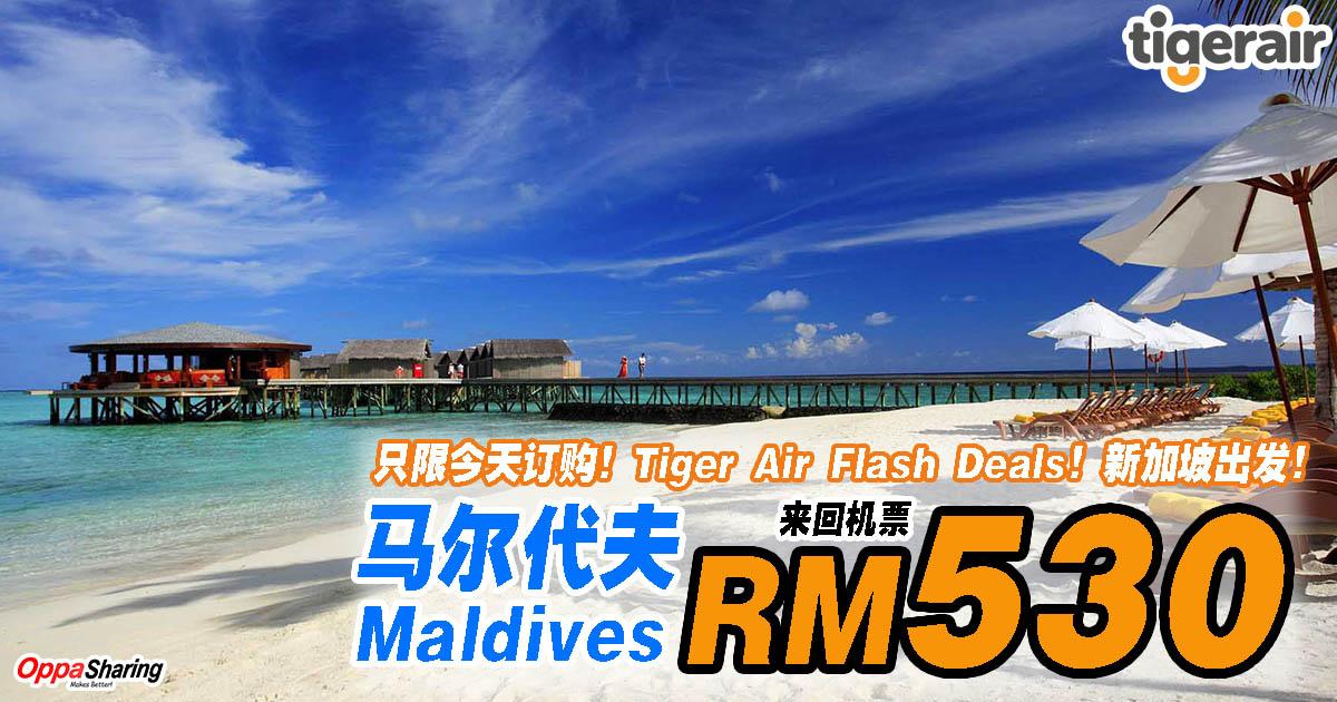Photo of 马尔代夫Maldives来回机票RM530而已!只限今天订购!Tiger Air Flash Deals!新加坡出发!