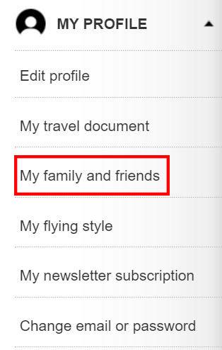 my family list
