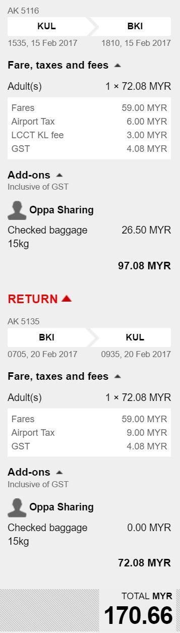 170 free luggage