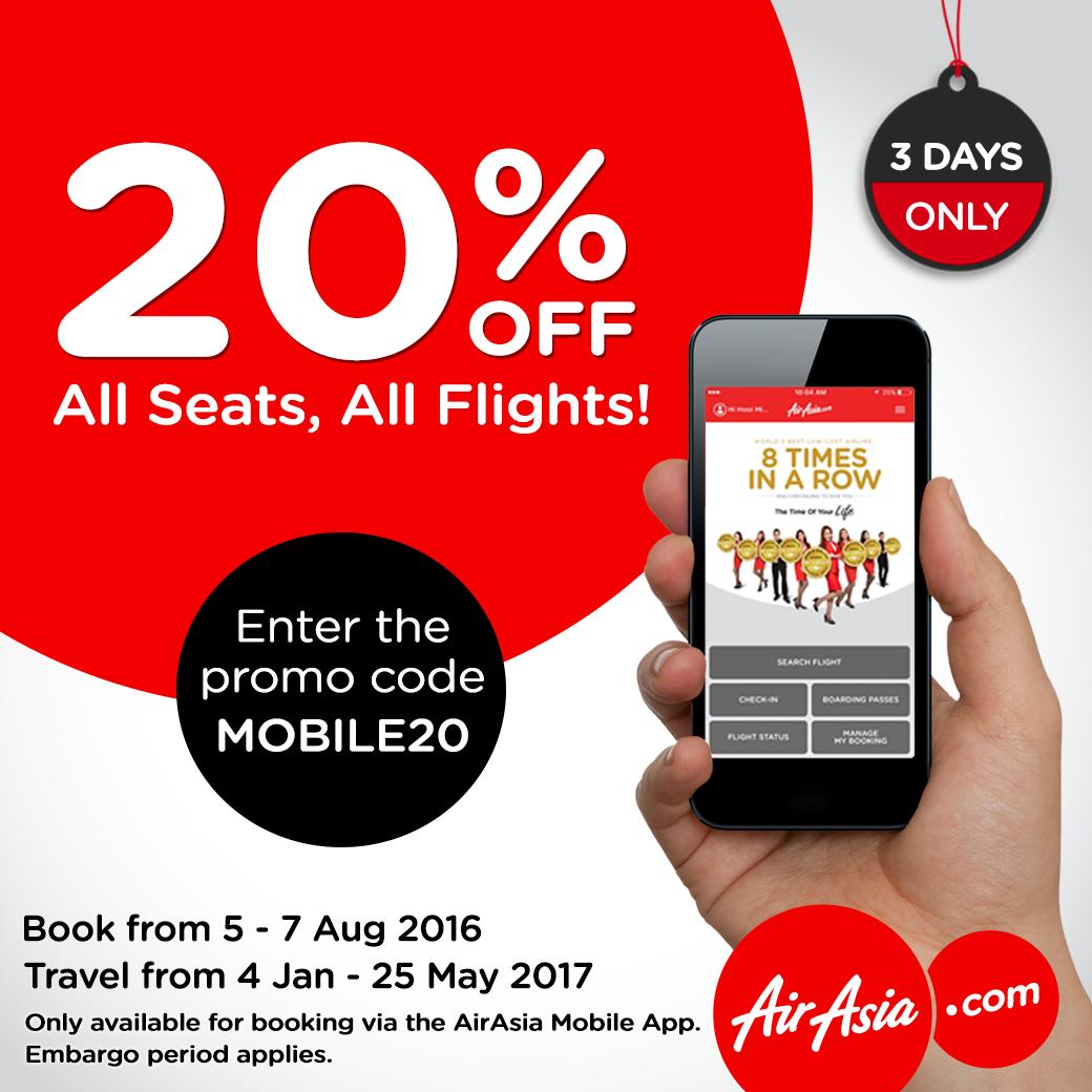 airasia 20 percent off