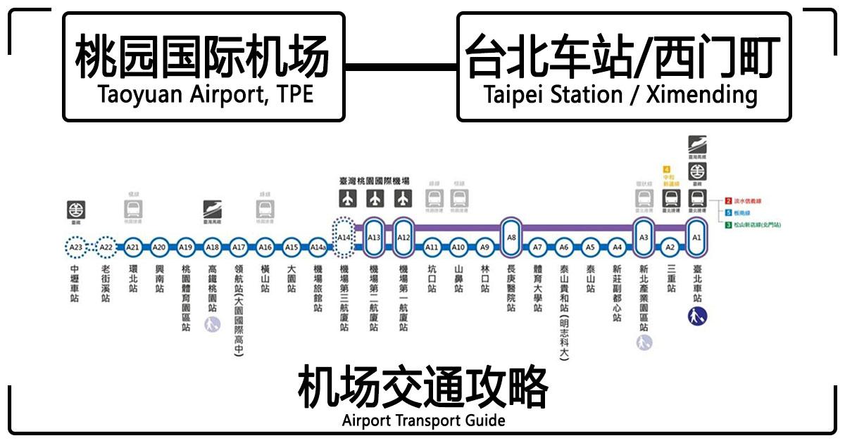 Photo of 【机场交通】桃园机场Taoyuan Airport — 台北车站Taipei Station/西门町Ximending