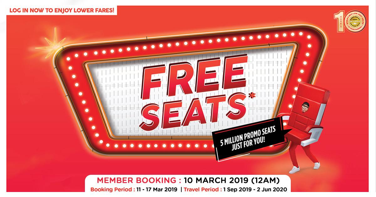Photo of 亚航AirAsia免费机位回来了,这次还附加更多优惠!
