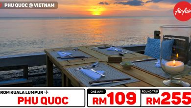 Photo of 【AirAsia机票优惠】吉隆坡KUL — 富国岛Phu Quoc 单程RM109 来回RM255 [Exp: 22 Sep 2019]