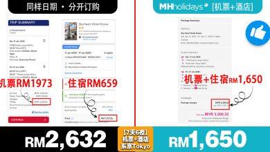 Photo of 【这样订比较便宜!】分开订购RM2.6K++ vs. MH Holidays一起订购只需RM1.6K++
