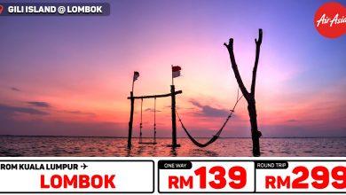 Photo of 【#时间表】吉隆坡KUL — Lombok龙目岛 单程RM139 来回RM299 [Exp: 10 Nov 2019]