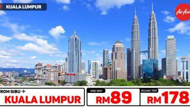 Photo of 【#时间表】诗巫Sibu — 吉隆坡Kuala Lumpur 单程RM89 来回RM178 #学校假期 直接AirAsia订购![Exp: 18 Nov 2019]