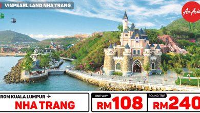 Photo of 【#AirAsia时间表】吉隆坡KUL — 芽庄Nha Trang 单程RM108 来回RM240![Exp: 1 Dec 2019]