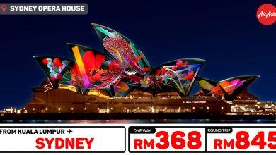 Photo of 【#AirAsia时间表】吉隆坡KUL — 悉尼Sydney 单程RM368 来回RM845![Exp: 1 Dec 2019]