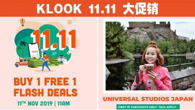 Photo of 【11.11大促销】KLOOK买一送一!#最新PromoCode