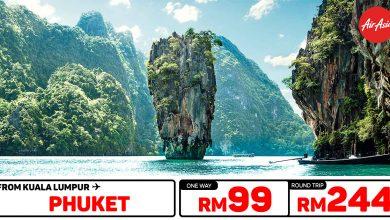 Photo of 【#时间表】吉隆坡KUL — 普吉岛Phuket 单程RM99 来回RM244 [Exp: 29 Dec 2019]