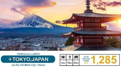 Photo of 【#时间表】吉隆坡KUL — 东京Tokyo 来回RM1,285 包括23kg托运+飞机餐!#VietnamAirlines [Exp: 20 Jan 2020]