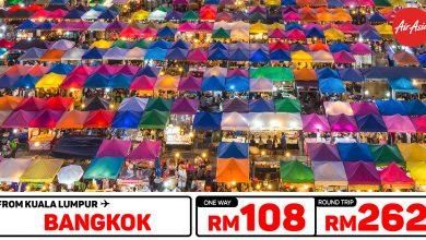 Photo of 【#时间表】吉隆坡KUL — 曼谷Bangkok 单程RM108 来回RM262 [Exp: 19 Jan 2020]