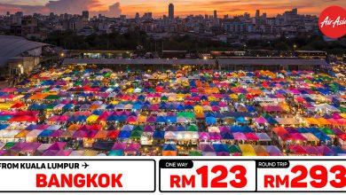 Photo of 【#时间表】吉隆坡KUL — 曼谷Bangkok 单程RM123 来回RM293 [Exp: 12 Jan 2020]