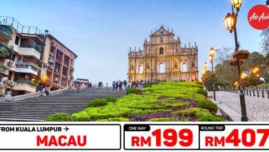 Photo of 【#时间表】吉隆坡KUL — 澳门Macau 单程RM199 来回RM407 [Exp: 17 Jan 2020]