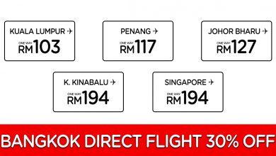 Photo of 【30% OFF】直飞Bangkok曼谷航班从RM103起![Exp: 23 Feb 2020]