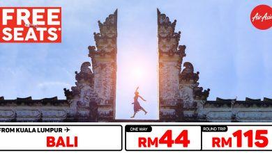 Photo of 【#时间表】吉隆坡KUL — 巴厘岛Bali 单程RM44 来回RM115 [Exp: 26 Feb 2020]