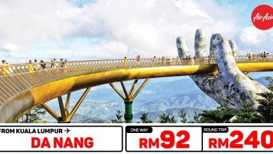 Photo of 【#时间表】吉隆坡KUL — 岘港Da Nang 单程RM92 来回RM240 [Exp: 16 Feb 2020]
