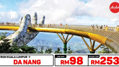 Photo of 【#时间表】吉隆坡KUL — 岘港Da Nang 单程RM98 来回RM253 [Exp: 23 Feb 2020]
