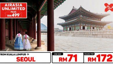 Photo of 【#时间表】UNLIMITED PASS 吉隆坡KUL — 首尔Seoul 单程RM71 来回RM172