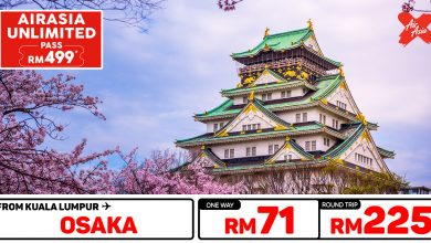 Photo of 【#时间表】UNLIMITED PASS 吉隆坡KUL — 大阪Osaka 单程RM71 来回RM225