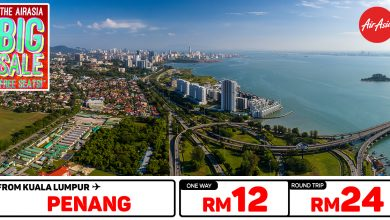 Photo of 【AirAsia #时间表】吉隆坡KUL — 槟城Penang 单程RM12 来回RM24 [Exp: 15 Mar 2020]