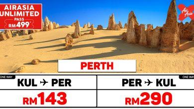 Photo of 【#时间表】AirAsia UNLIMITED PASS 柏斯Perth 单程/来回适合使用时间!