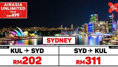 Photo of 【#时间表】UNLIMITED PASS 吉隆坡KUL — 悉尼Sydney 单程RM202 来回RM513