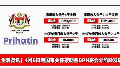 Photo of 【生活资讯】4月6日起国家关怀援助金BPN将会分阶段汇入银行户口!