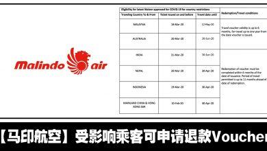 Photo of 【航空资讯】Malindo Air国内国外航班都可申请退款至Travel Voucher!#最新更新