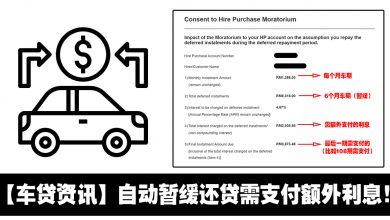 Photo of 【车贷资讯】车贷Hire Purchase自动暂缓还贷需支付额外利息!