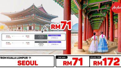 Photo of 【#时间表】吉隆坡KUL — 首尔Seoul 单程RM71 来回RM172 #AirAsiaUnlimitedPass
