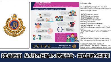 Photo of 【生活资讯】去JPJ需注意的9件事项!#需自行携带钢笔和免洗消毒液等