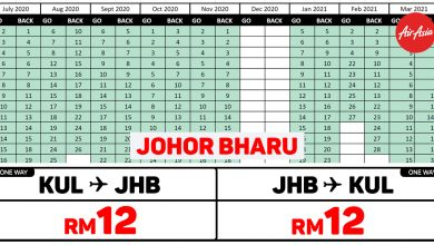 Photo of 【#时间表】吉隆坡KUL — 新山Johor Bharu 单程RM12 来回RM24!#AirAsiaUnlimitedPass