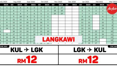 Photo of 【#时间表】吉隆坡KUL — 兰卡威Langkawi 单程RM12 来回RM24 !#AirAsiaUnlimitedPass