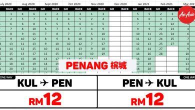 Photo of 【#时间表】吉隆坡KUL — 槟城Penang 单程RM12 来回RM24!#AirAsiaUnlimitedPass