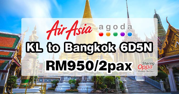 Photo of KL to Bangkok 6D5N AirAsia + Agoda RM950/2pax