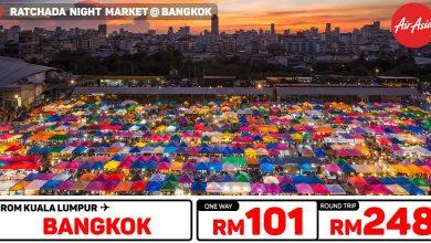 Photo of 【AirAsia高达70%折扣】吉隆坡KUL — 曼谷Bangkok 来回RM248 [Exp: 13 Oct 2019]