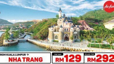 Photo of 【#时间表】吉隆坡KUL — 芽庄Nha Trang 单程RM129 来回RM292 #AirAsia直飞 [Exp: 20 Oct 2019]