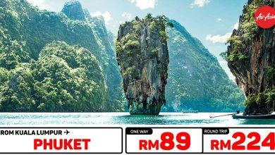 Photo of 【AirAsia高达70%折扣】吉隆坡KUL — 布吉岛Phuket 来回RM224 [Exp: 13 Oct 2019]