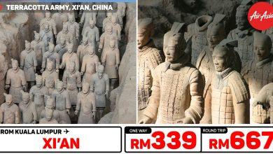 Photo of 【#时间表】吉隆坡KUL — 西安Xi'an 单程RM339 来回RM667 #直飞航班 #学校假期 [Exp: 27 Oct 2019]