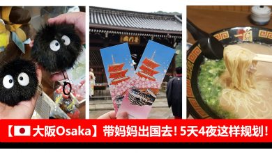 Photo of 【大阪Osaka自由行】带妈妈出国去!5天4夜行程就酱规划!#环球影城+京都+奈良
